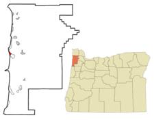 Location Of Netarts Oregon