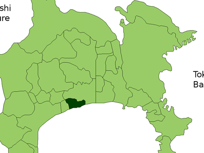 Location Of Iso In  Kanagawa Prefecture