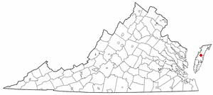 Location Of Onley Virginia
