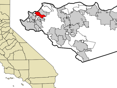 Location Of Pinole Within California