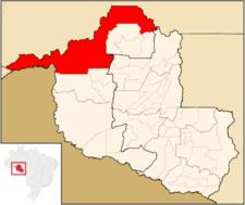 Location Of Porto Velho In The State Of Rondnia