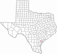 Location Of Refugio Texas