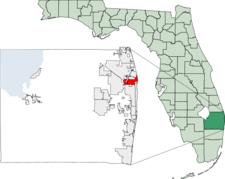 Location Of Riviera Beach In Palm Beach County Florida