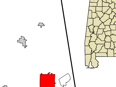 Location In Randolph County And The State Of Alabama