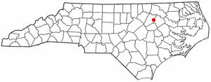 Location Of Rocky Mount Within North Carolina
