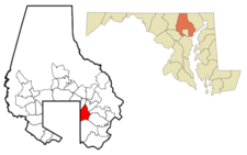 Location Of Rosedale Maryland