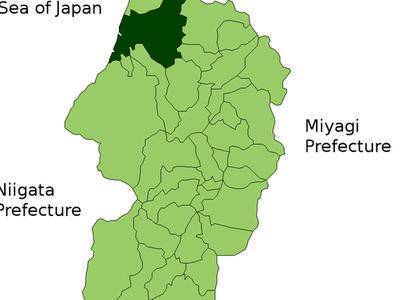 Location Of Sakata In Yamagata