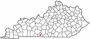 Location Of Scottsville Kentucky