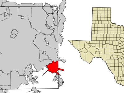 Location Of Seagoville In Dallas County Texas