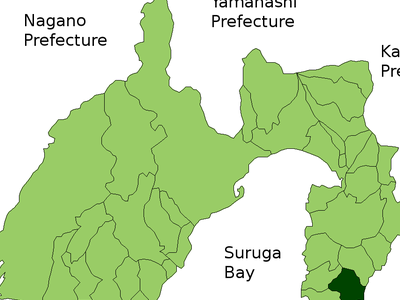 Location Of Shimoda In  Shizuoka