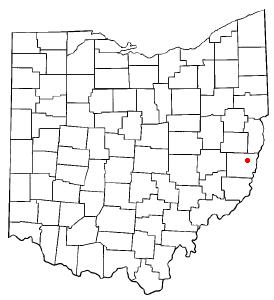 Location Of St. Clairsville Ohio