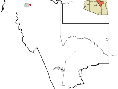 Location In Gila County And The State Of Arizona