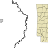 Location In Arkansas County And The State Of Arkansas