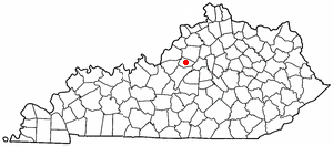 Location Of Taylorsville Kentucky
