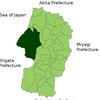 Location Of Tsuruoka In Yamagata