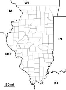 Location Of Vandalia Within Illinois