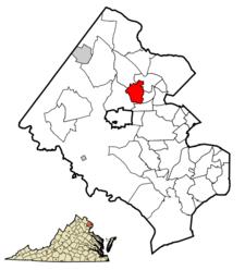 Location Of Vienna In Fairfax County Virginia