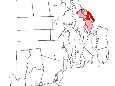 Location Of Warren In Bristol County Rhode Island