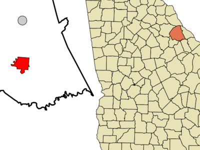 Location In Wilkes County And The State Of Georgia