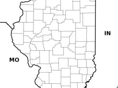 Location Of Waterloo Within Illinois