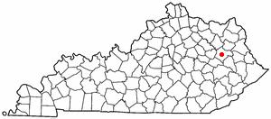 Location Of West Liberty Kentucky