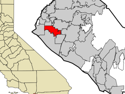Location Of Westminster Within Orange County California.