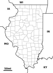 Location Of Wheaton Within Illinois