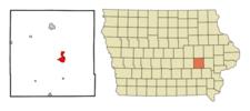 Location Of Williamsburg Iowa