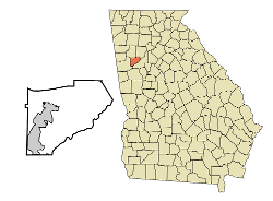 Location In Douglas County And The State Of Georgia