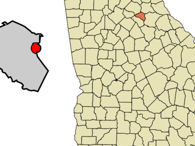 Location In Clarke County And The State Of Georgia