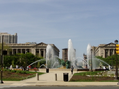 Swann Fountain In Logan Circle