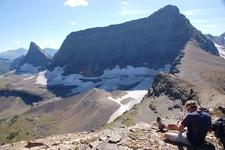 Logan Glacier At Right Beneath Mount Logan