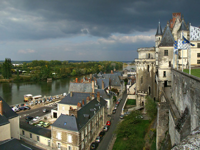 The Chateau Overlooking The Town Of Amboise
