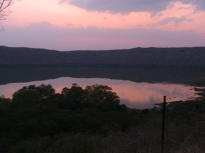 Lonar Crater In The Evening