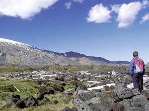 Lond False acantilados de basalto