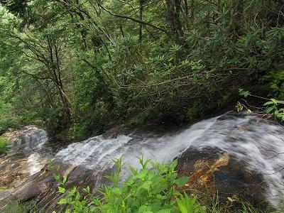 Looking Down Cascade Falls - Blue Ridge Mountains NC
