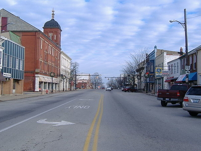 Looking North On High Street In Hillsboro