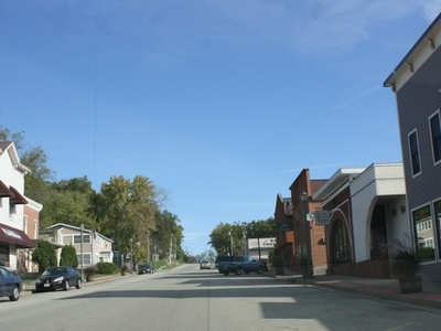 Looking North At Downtown Trempealeau