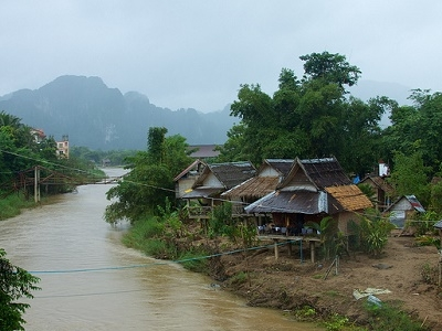 Looking Upriver From Vang Vieng
