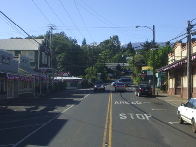 Looking Up On Baldwin Avenue Towards The Baldwin Avemakawao Aveo