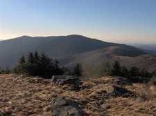 Looking West From Grassy Ridge Bald - North Carolina