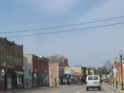 Looking West At Downtown Wautoma Wisconsin