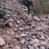 Loose Rocks Slide Over The Trail