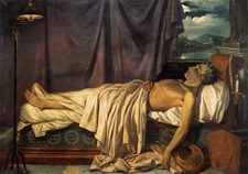 Lord Byron On His Death Bed C . 1 8 2 6