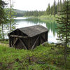 Lower Logging Lake Snowshoe Cabin And Boathouse - Glacier - USA