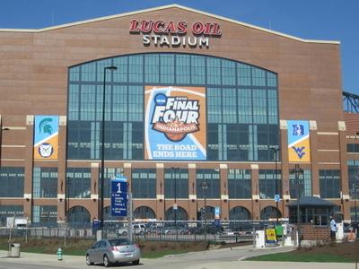Lucas Oil Stadium Front