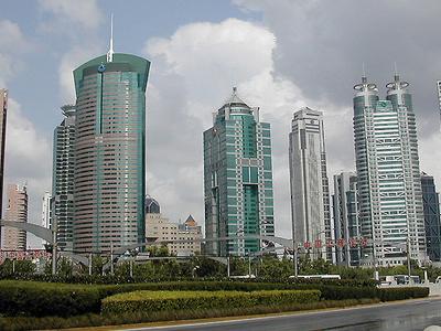 Lujiazui Skyline Pudong Shanghai