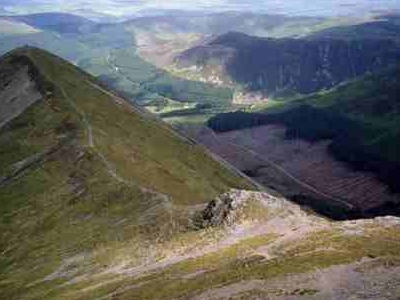 Ladyside  Pike From  Hopegill  Head