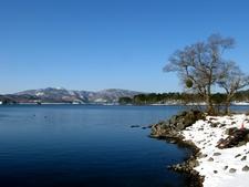 Lake Hibara With Snow