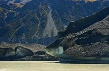Tasman Glacier At Lake Tasman